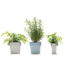 Горшок для растений slim серый
