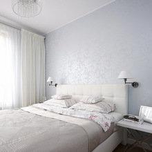 Фотография: Спальня в стиле Современный, Квартира, Цвет в интерьере, Дома и квартиры, Белый – фото на InMyRoom.ru