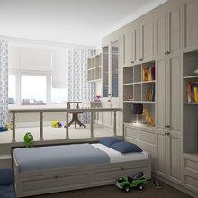 Фотография: Детская в стиле Современный, Декор интерьера, Квартира, Мебель и свет, Подиум – фото на InMyRoom.ru