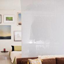 Фотография:  в стиле Современный, Квартира, Цвет в интерьере, Дома и квартиры, Белый, Панорамные окна – фото на InMyRoom.ru