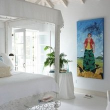 Фотография: Спальня в стиле Кантри, Дом, Цвет в интерьере, Дома и квартиры, Белый, Большие окна – фото на InMyRoom.ru