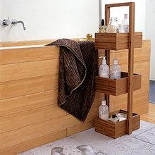 Фотография: Ванная в стиле Кантри, Минимализм, Интерьер комнат, Системы хранения, Полки – фото на InMyRoom.ru