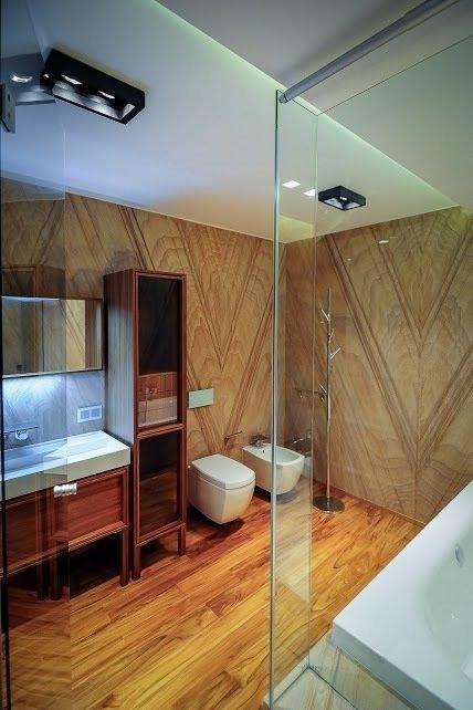 Фотография: Ванная в стиле Лофт, Современный, Интерьер комнат, Эко, Ванна – фото на InMyRoom.ru