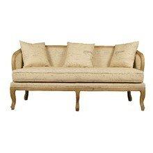 Мягкий диван с росписью и 3 подушками