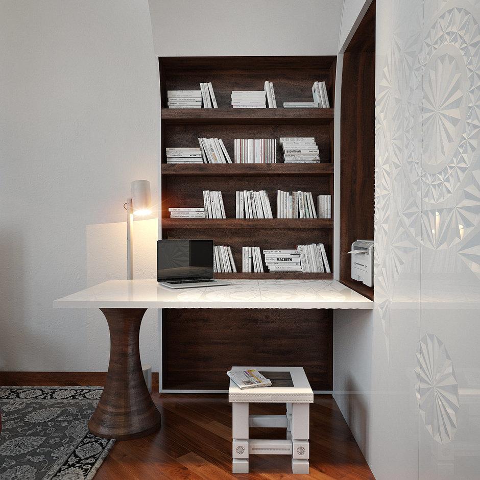 Фотография: Офис в стиле Эклектика, Квартира, Дома и квартиры, Проект недели – фото на InMyRoom.ru