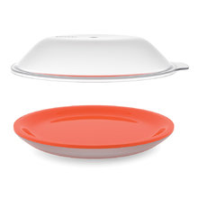 Блюдо с двойными стенками с крышкой для микроволновой печи Joseph Joseph m-cuisine оранжевое