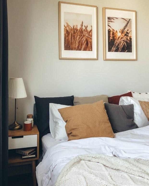 Фотография: Спальня в стиле Скандинавский, Квартира, Проект недели, 3 комнаты – фото на INMYROOM