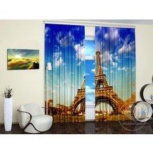 Дизайнерские фотошторы: Парижский символ
