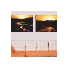 Красивый диптих на холсте: Горные реки