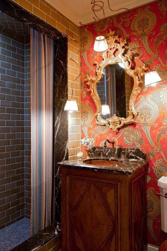 Фотография: Ванная в стиле Прованс и Кантри, Современный, Эклектика, Декор интерьера, Декор дома, Ковер – фото на InMyRoom.ru
