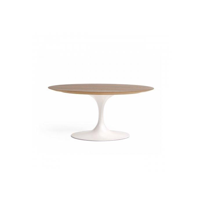 """Кофейный стол """"Tulip""""  с деревянной столешницей"""