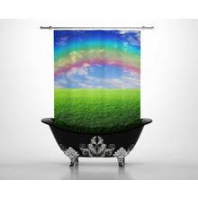 Штора для ванной: Полосатая радуга
