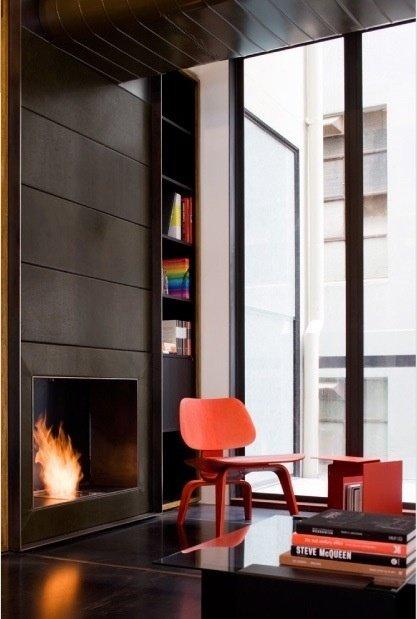 Фотография: Гостиная в стиле Современный, Эклектика, Декор интерьера, Дизайн интерьера, Цвет в интерьере, Оранжевый – фото на InMyRoom.ru