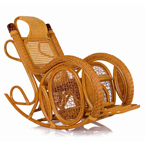 Кресло-качалка из ротанга Alexa