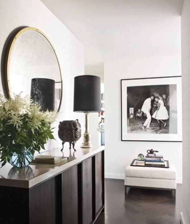 Фотография: Гостиная в стиле Современный, Квартира, Дома и квартиры, Интерьеры звезд, Нью-Йорк – фото на InMyRoom.ru