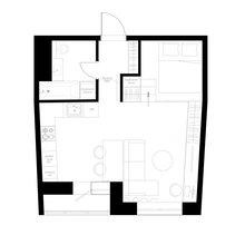 Фотография: Планировки в стиле , Квартира, Студия, Проект недели, Санкт-Петербург, до 40 метров, Анна Швец – фото на InMyRoom.ru