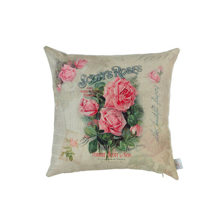 Подушка декоративная розовая