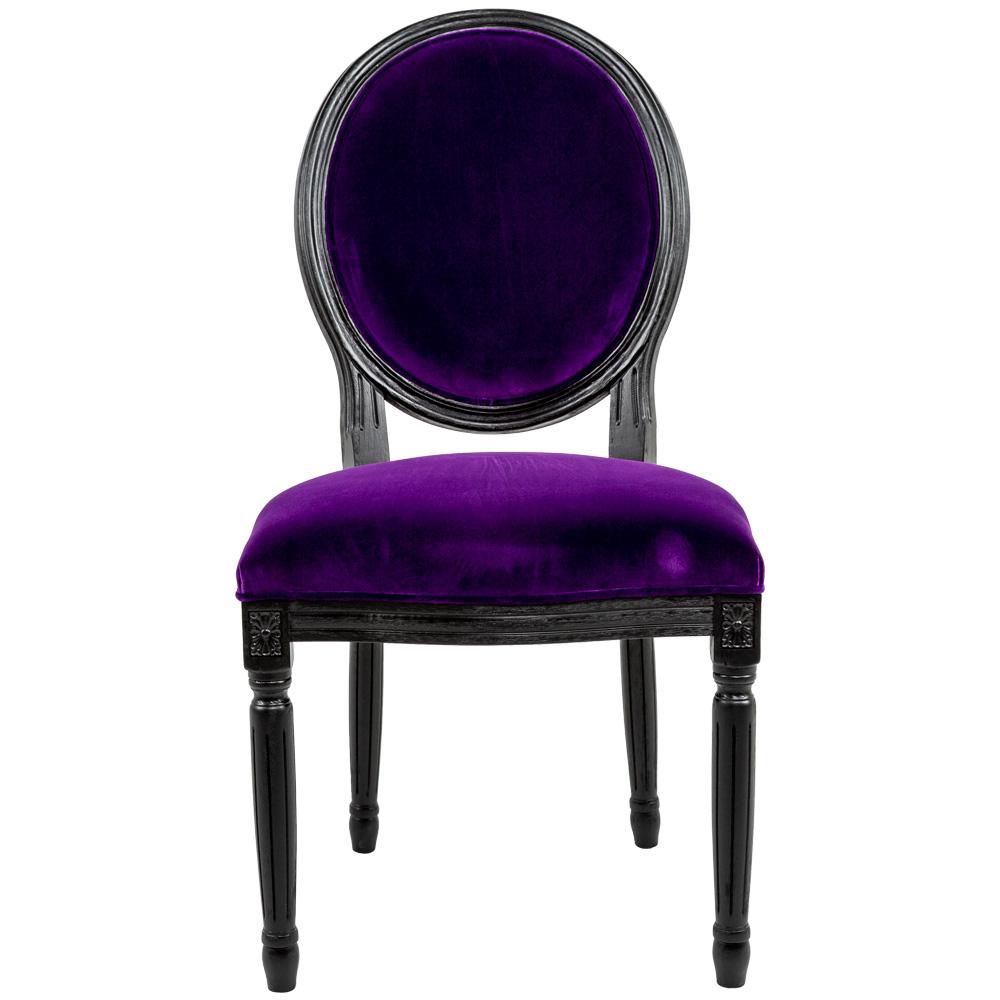 Купить Стул луи из натурального бука и велюра фиолетового цвета, inmyroom, Россия