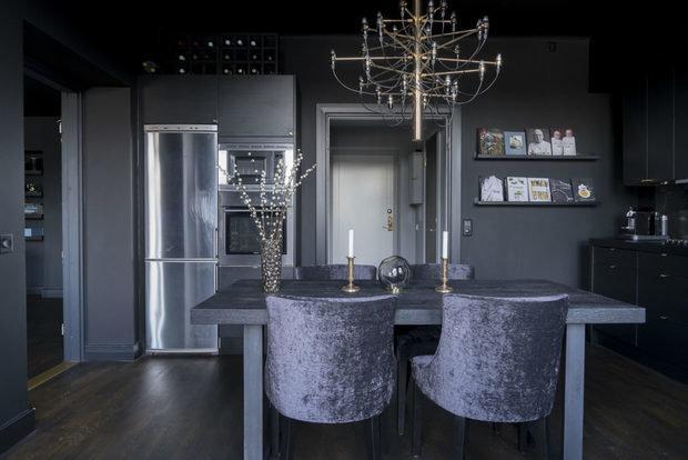 Фотография: Кухня и столовая в стиле Современный, Декор интерьера, Квартира, Швеция, Черный, 2 комнаты – фото на InMyRoom.ru