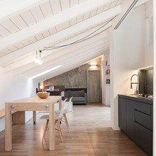 Фото из портфолио Проект обустройства пространства на чердаке в Италии – фотографии дизайна интерьеров на InMyRoom.ru