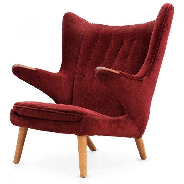 Кресло Papa Bear из красного кашемира