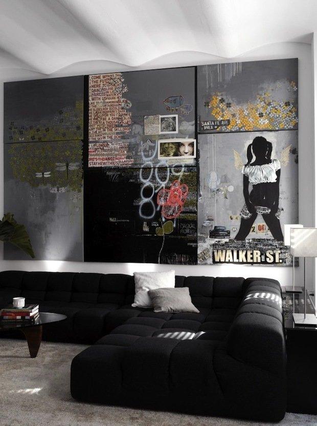 Фотография: Гостиная в стиле Лофт, Декор интерьера, Декор дома, Картины – фото на InMyRoom.ru