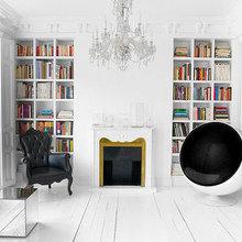 Фотография: Гостиная в стиле Эклектика, Интерьер комнат, Eero Aarnio, Кресло – фото на InMyRoom.ru