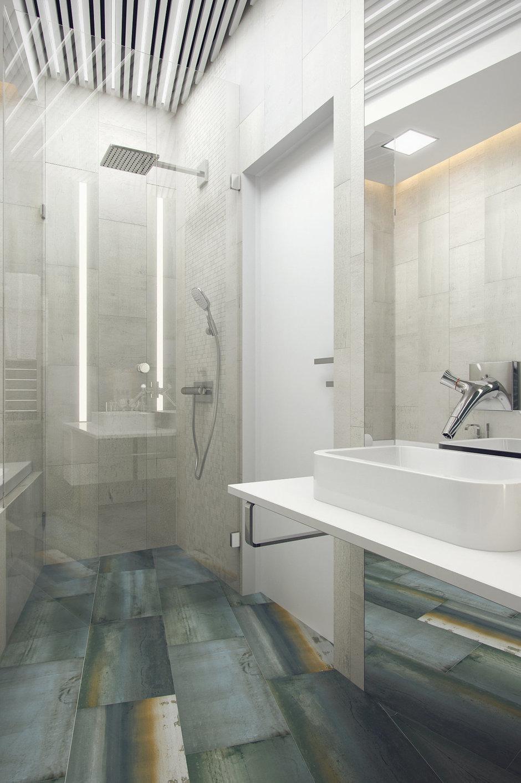 Фотография: Ванная в стиле Современный, Минимализм, Эклектика, Квартира, Проект недели – фото на InMyRoom.ru