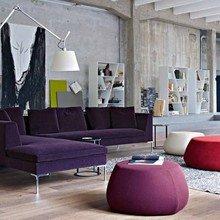 Фотография: Гостиная в стиле Лофт, Квартира, Цвет в интерьере, Дома и квартиры, B&B Italia – фото на InMyRoom.ru