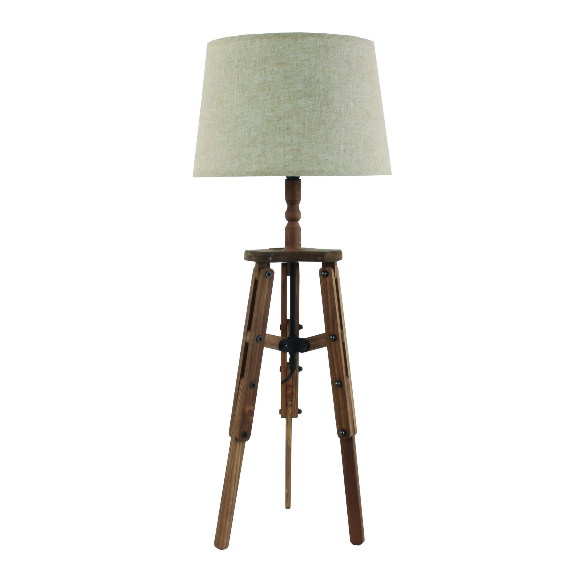 Купить со скидкой Настольная лампа с серым абажуром