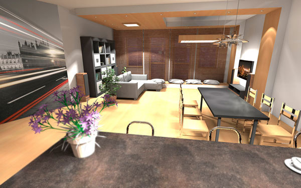 Фотография: Кухня и столовая в стиле Современный, Декор интерьера, Дизайн интерьера, Цвет в интерьере, Белый, Серый, Бирюзовый – фото на InMyRoom.ru