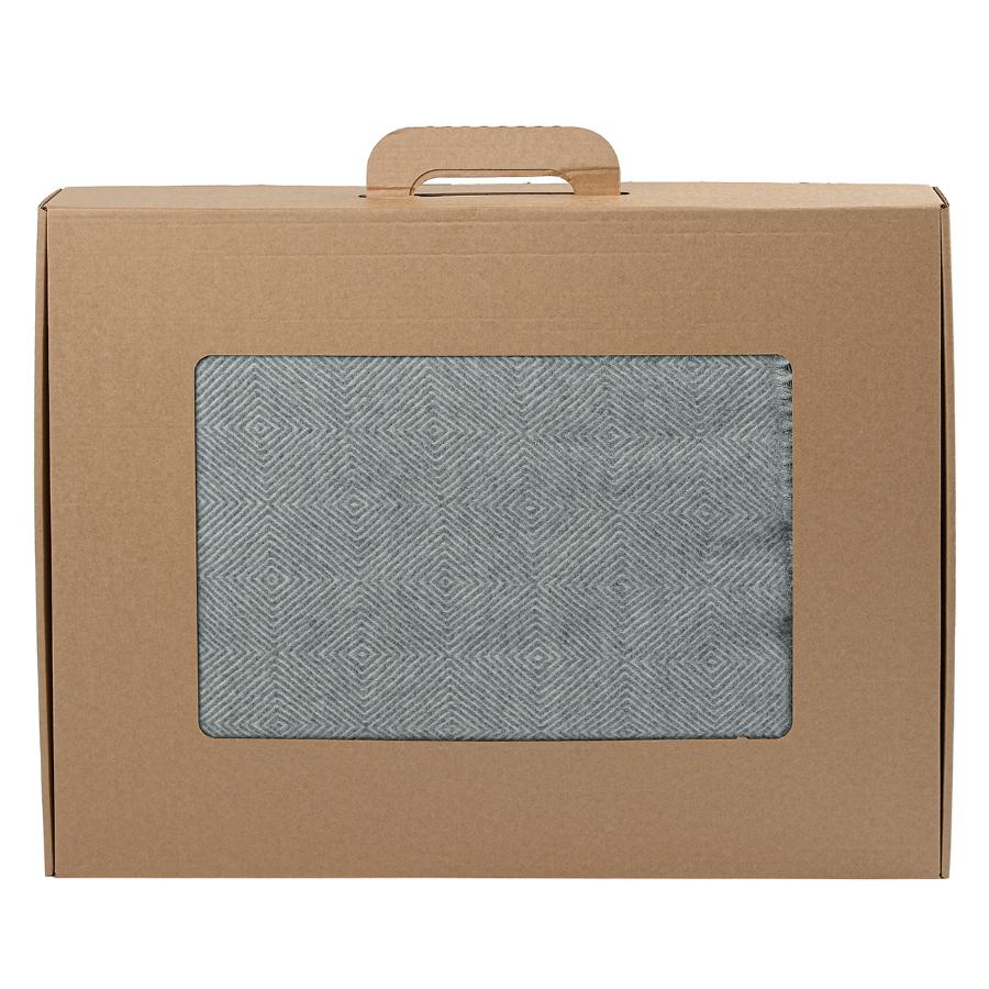 Плед Essential из шерсти мериноса серого цвета 130х180
