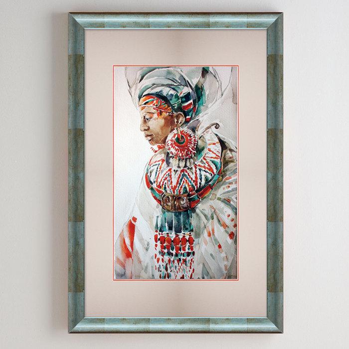 Постер African collection. Женский портрет