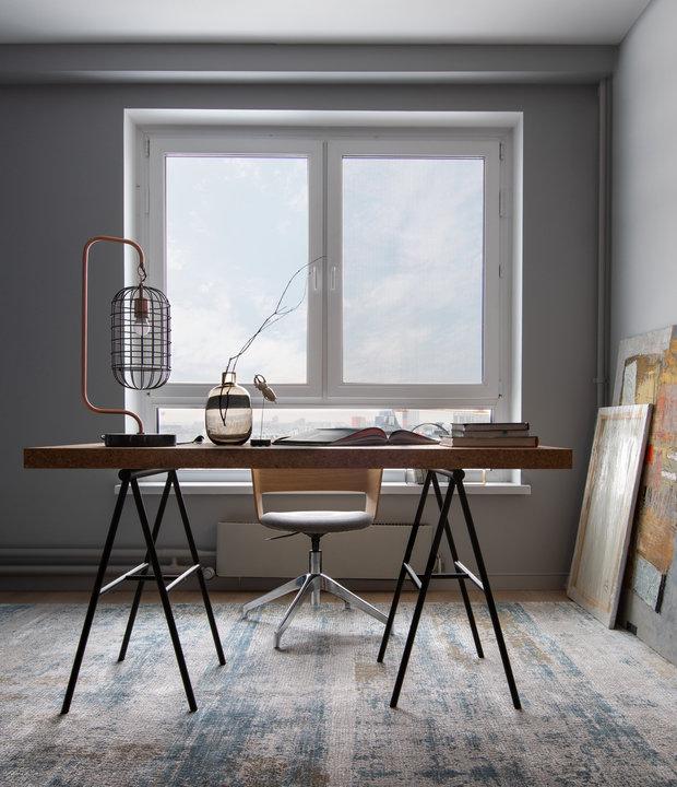 Фотография: Кабинет в стиле Современный, Квартира, Проект недели, Москва, 3 комнаты, 60-90 метров, Анна Никитина – фото на INMYROOM