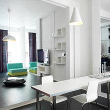 Фотография: Мебель и свет в стиле Современный, Квартира, Цвет в интерьере, Дома и квартиры, Белый – фото на InMyRoom.ru