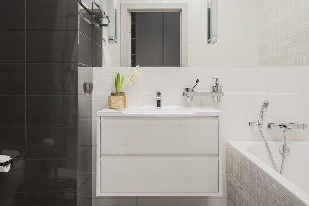 Фотография: Ванная в стиле Современный, Квартира, Проект недели, Москва, 3 комнаты, 60-90 метров, AR-KA – фото на INMYROOM