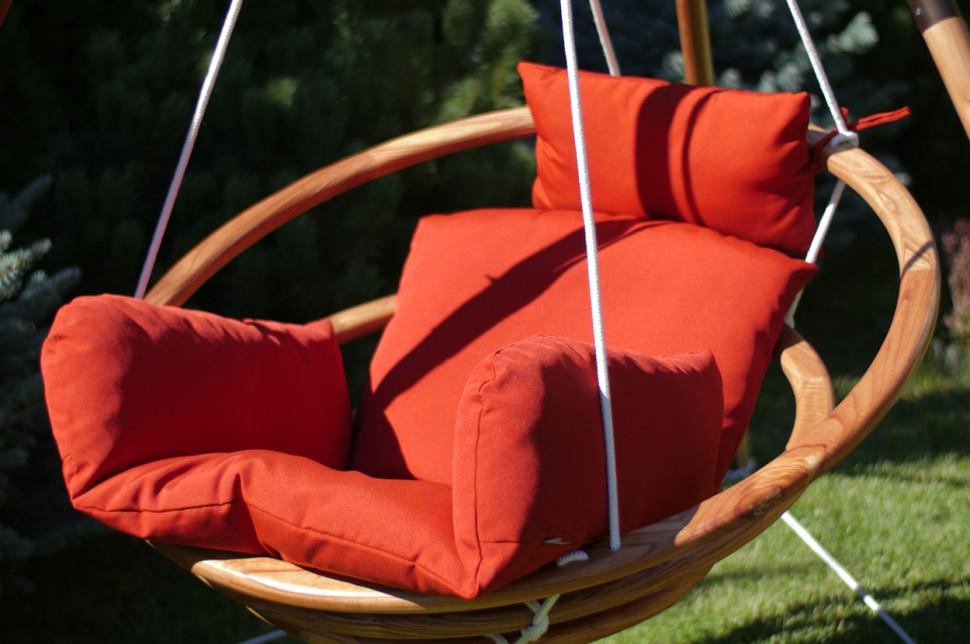 Купить Подвесное деревянное кресло качели с подушками - комплект майя Set, inmyroom, Китай