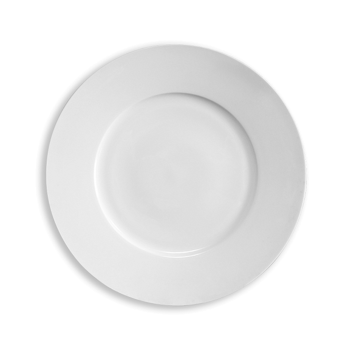 Тарелка бортовая белого цвета