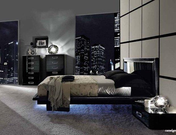 Фотография: Спальня в стиле Хай-тек, Декор интерьера, Декор, Мебель и свет, освещение – фото на InMyRoom.ru
