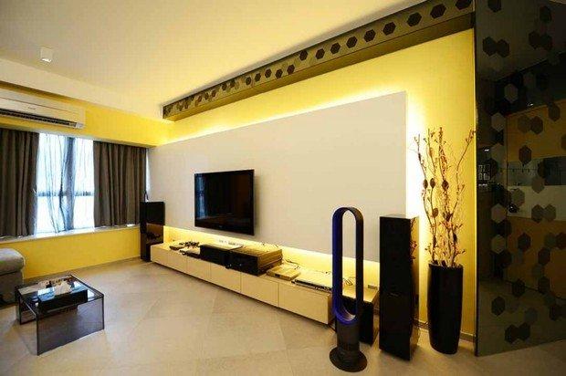 Фотография: Гостиная в стиле Современный, Декор интерьера, Дизайн интерьера, Цвет в интерьере, Желтый – фото на InMyRoom.ru
