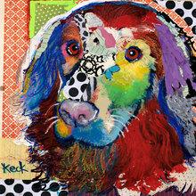 Картина (репродукция, постер): Dog №5 - Майкл Кек