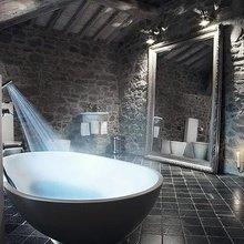Фотография: Ванная в стиле Лофт, Декор интерьера, Дом, Мебель и свет, Футуризм – фото на InMyRoom.ru