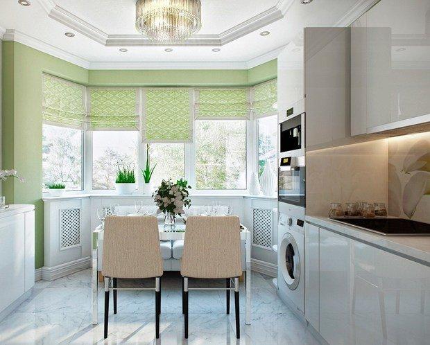 Фотография: Кухня и столовая в стиле Современный, Советы, Зеленый – фото на InMyRoom.ru