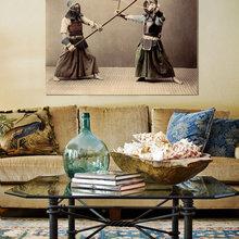 Фотография: Гостиная в стиле Восточный, Декор интерьера, Декор, Декор дома, Современное искусство – фото на InMyRoom.ru