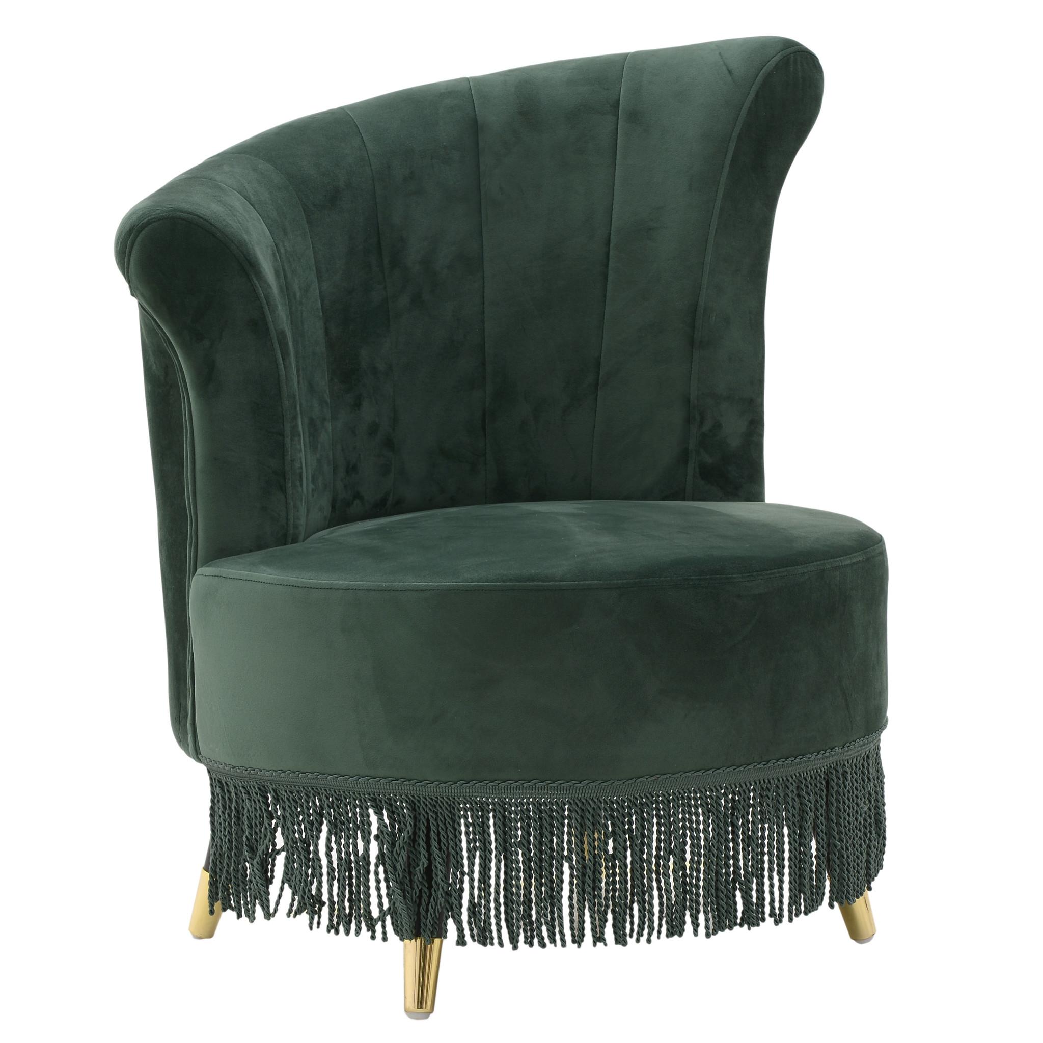 Купить Интерьерное кресло на ножках зеленого цвета, inmyroom, Греция