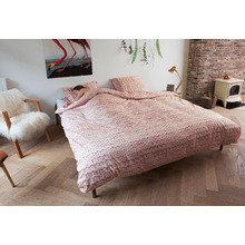 """Комплект постельного белья """"Косичка"""" 150х200 розовый фланель"""