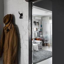 Фотография: Прихожая в стиле Лофт, Малогабаритная квартира, Квартира, Дома и квартиры, IKEA, Проект недели, Максим Тихонов, Ольга Мелекесцева – фото на InMyRoom.ru