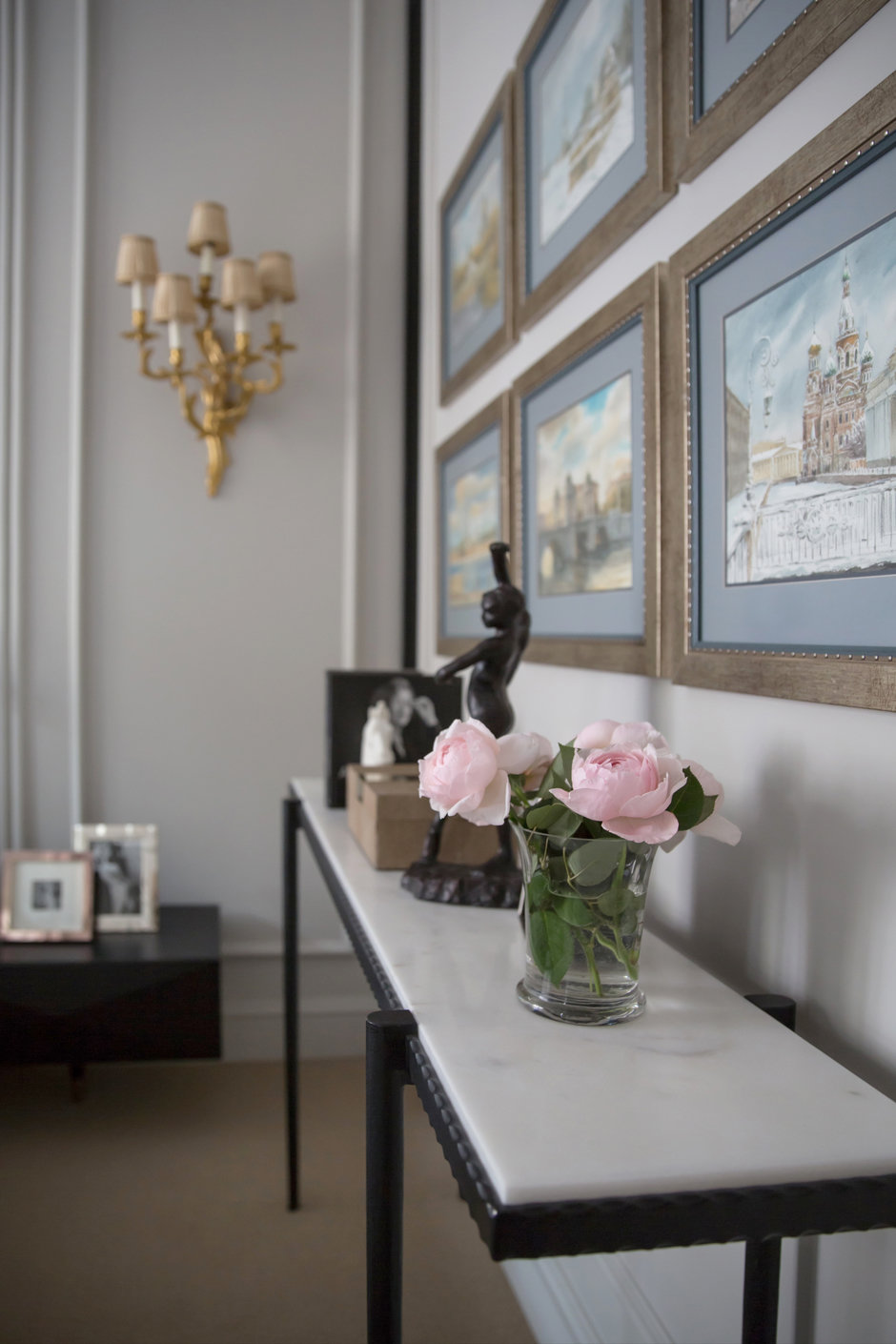 Фотография: Декор в стиле Классический, Квартира, Проект недели, Москва, Марина Филиппова, 2 комнаты, 60-90 метров, #эксклюзивныепроекты – фото на InMyRoom.ru