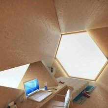Фотография: Спальня в стиле Минимализм, Эко, Кабинет, Малогабаритная квартира, Офисное пространство, Интерьер комнат – фото на InMyRoom.ru