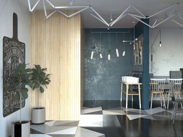Фото из портфолио МУКА CAFE – фотографии дизайна интерьеров на INMYROOM